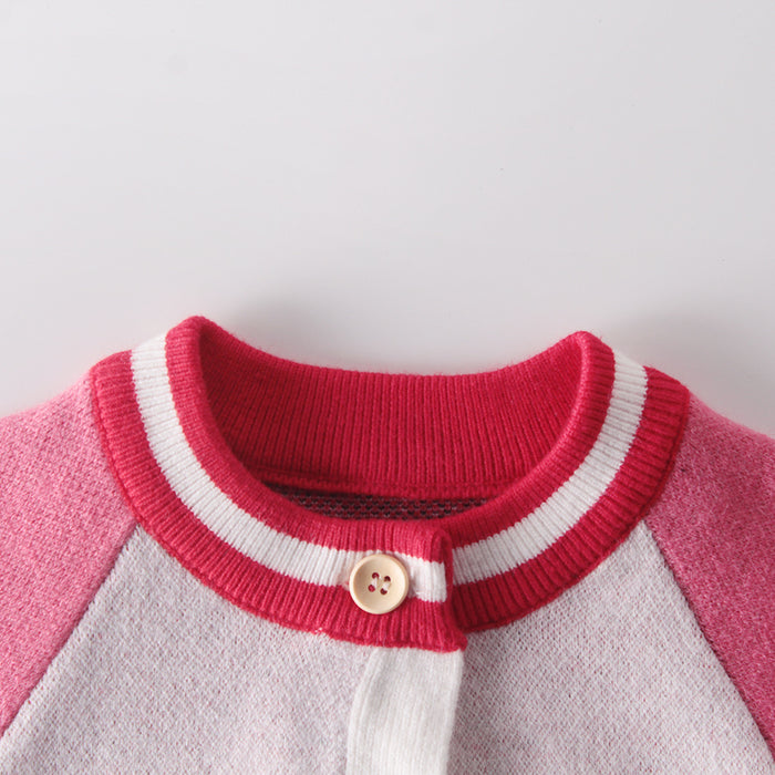 Sweet Strawberry Girl Knit Baby Sweater