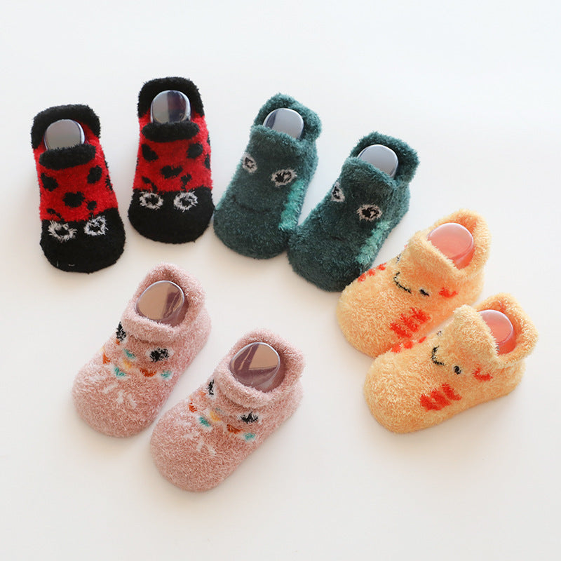 Baby Crochet Knit Terry Thickening Non-slip Toddler Socks