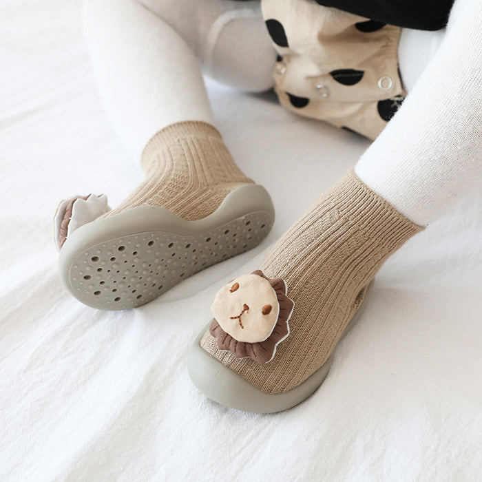 Baby Crochet Knit Three-dimensional Cartoon Rubber Non-slip Toddler Socks