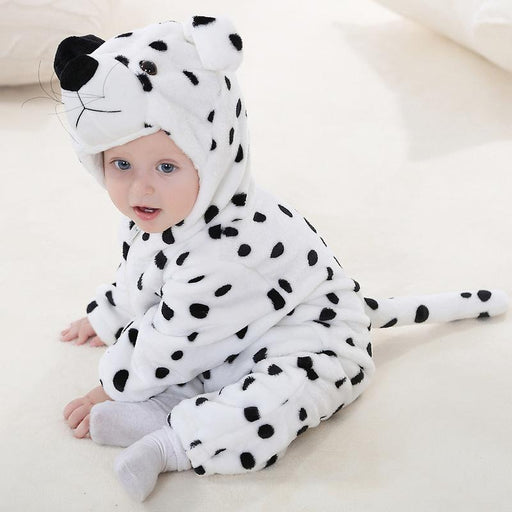 Funny cross-border cartoon autumn and winter flannel Baby Onesie