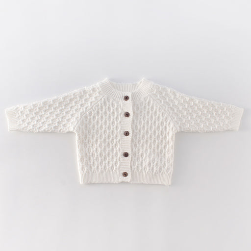 Baby Knit Solid - colored Rhombus Sweater