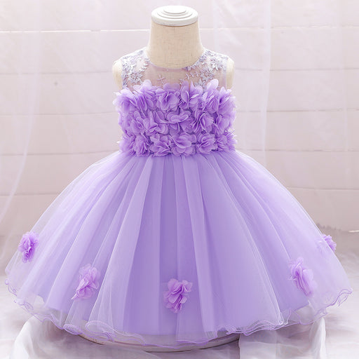 Girls' one-year-old dress skirt/net yarn lace princess tutu skirt