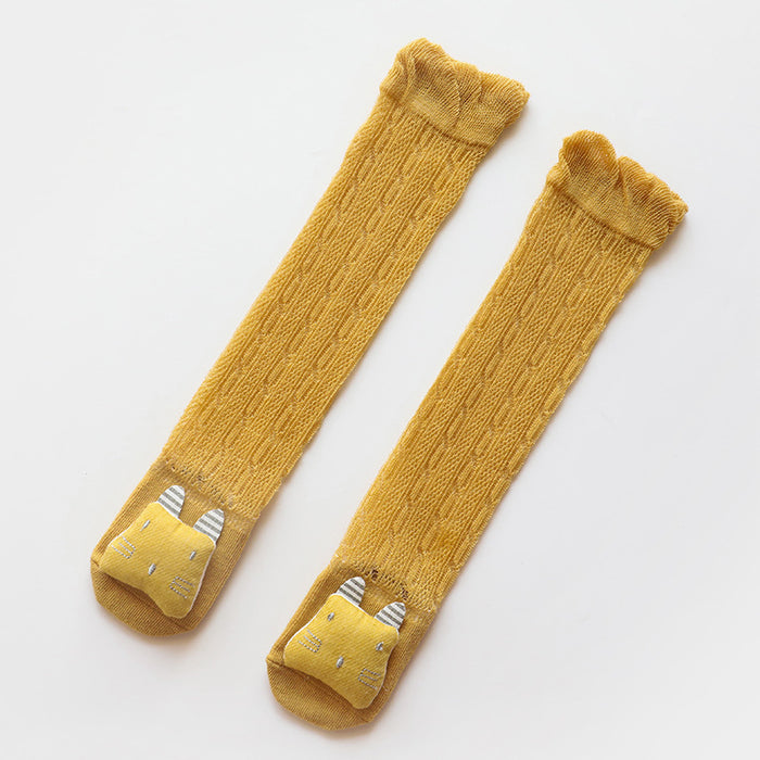 Cartoon Doll Baby Knitted Stockings