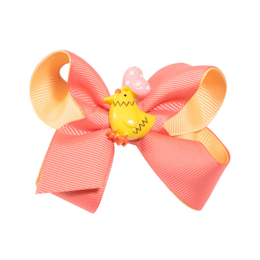 Girl baby bow hairpin rainbow unicorn animal hairpin