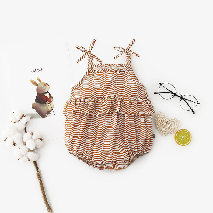 Sling Cake Layer Triangle Harp Dress Bag Butt Baby One-piece