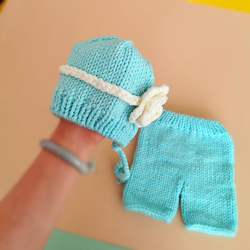 Hand-crocheted Knitting Newborn Small White Flowers Photography Suit