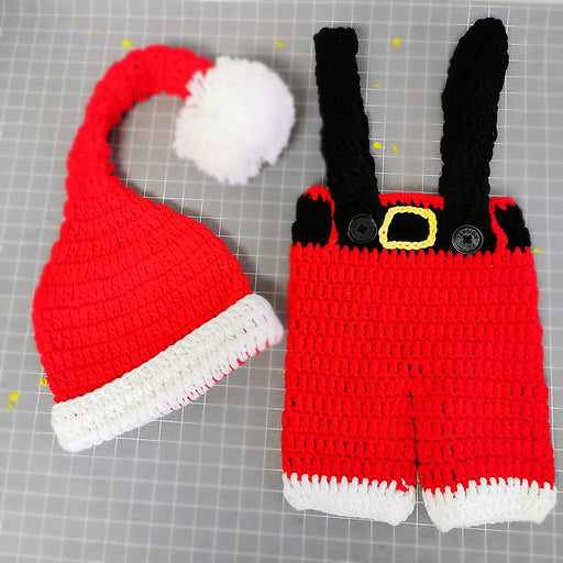 Hand-crocheted Knitting Newborn Christmas Photography Suit
