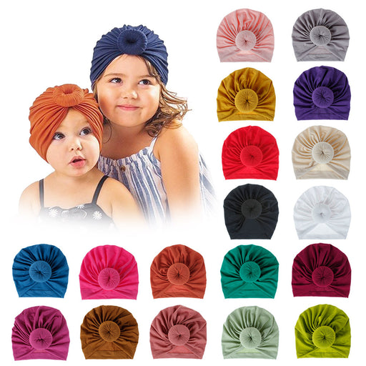 18 Colour Knitted Cotton Donut Baby Hat