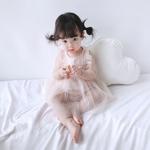 Summer New Baby Onesies, Climbing Clothes, Newborn Baby Lace  Skirts, Out Clothes Triangle Romper
