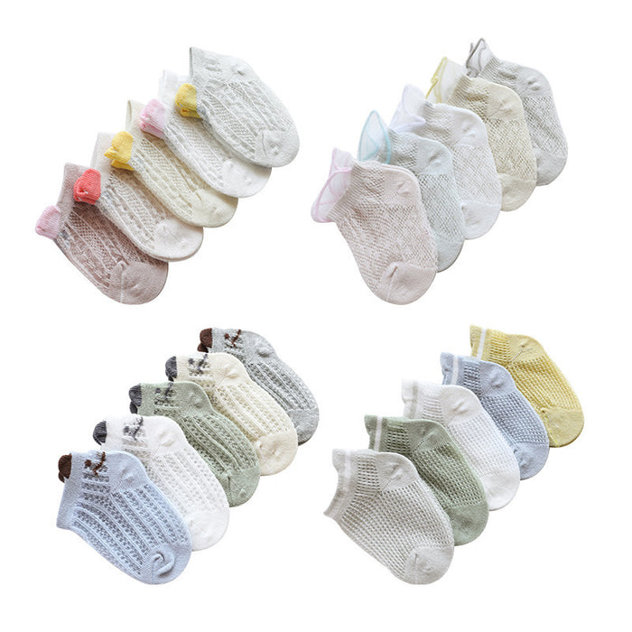 Mesh breathable baby knit socks