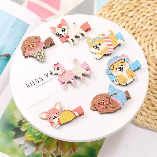Cute cartoon hair clip super cute animal parent-child hair accessories baby side clip