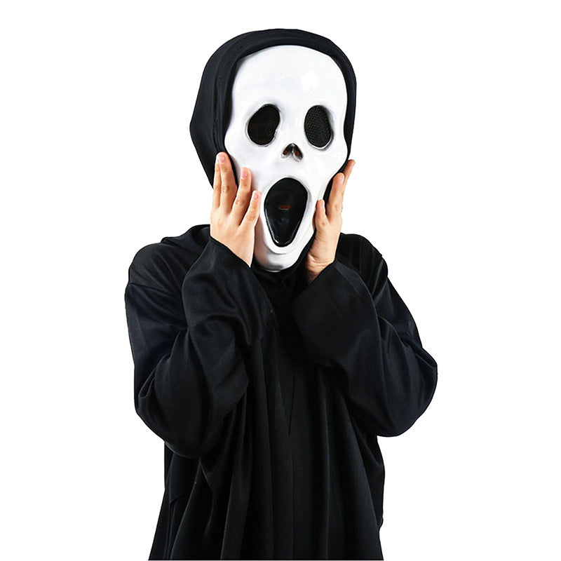 Halloween cosplay scary skeleton ghost robe costume