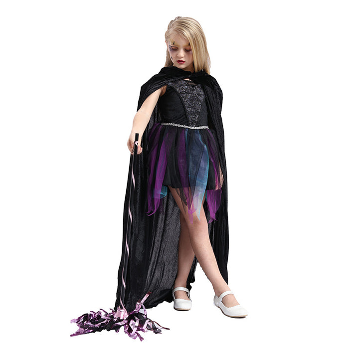 Halloween black simple cloak costume