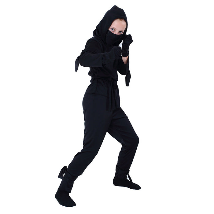Halloween cool black chic ninja costume costume