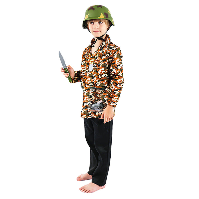 Children's cosplay anime day dance army professional costume