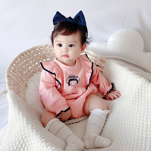 Baby clothes, cute baby girl's one-piece romper, long-sleeved climbing clothes