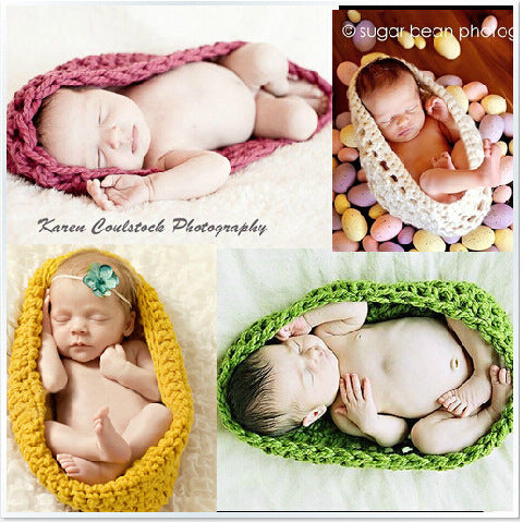 Hand-crocheted Knitting Newborn Sleeping Bag Photography Suit