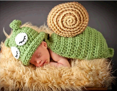 Hand-crocheted Knitting Newborn Snail Photography Suit