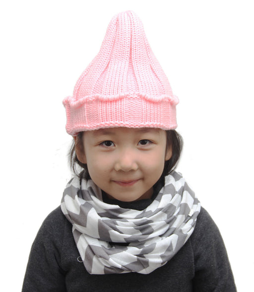 Candy-coloured Girl Infant Knitted Cap With Curly Edge