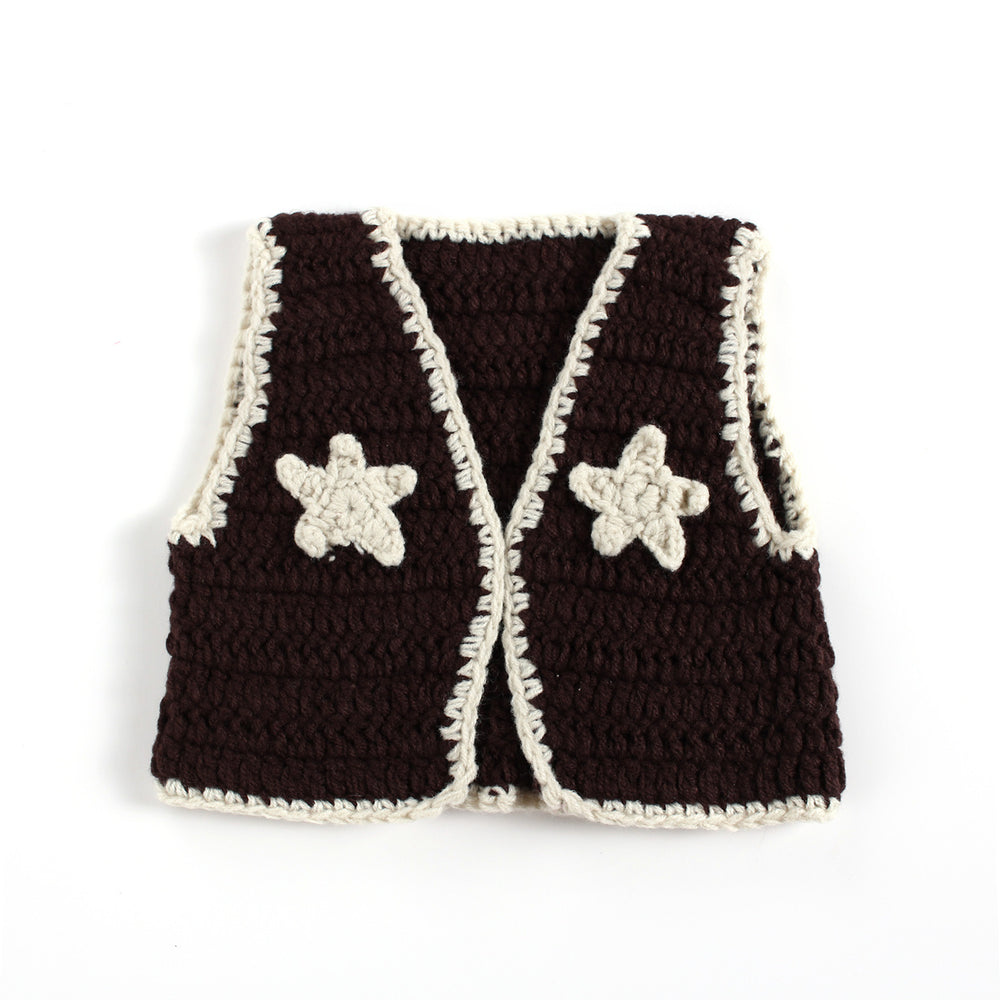 Hand-crocheted Knitting Newborn Waistcoat Photography Suit