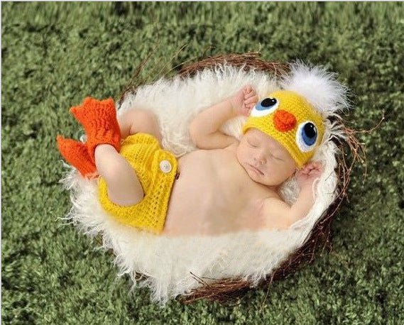 Hand-crocheted Knitting Newborn Chick Photography Suit