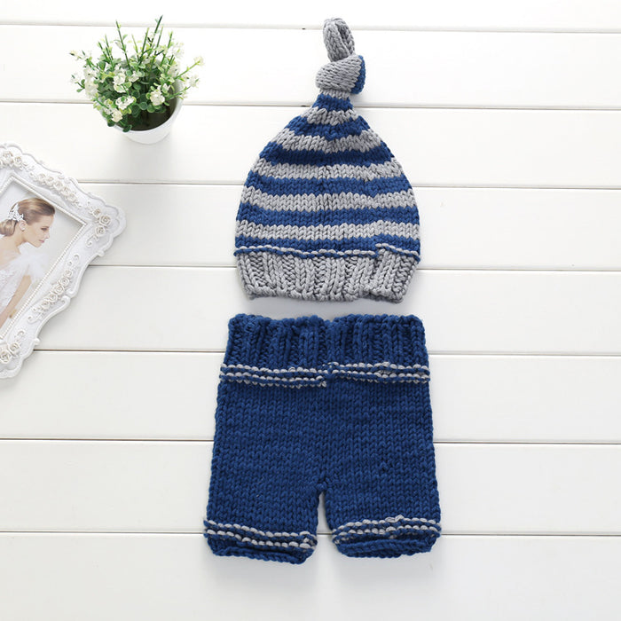 Hand-crocheted Knitting Newborn Photography Suit