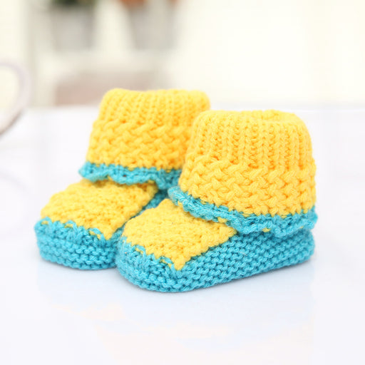 Crochet Knit Baby Infant Colorful Booties