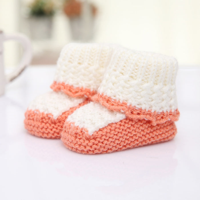 Crochet Knit Baby Infant Newborn Happy Berry Girl Booties - Champage