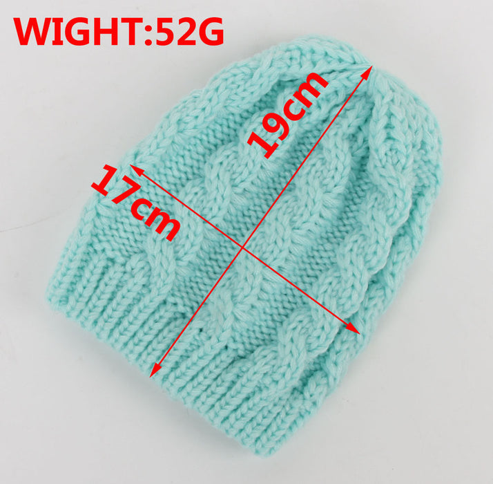 Warm Winter Baby Knitted Cap