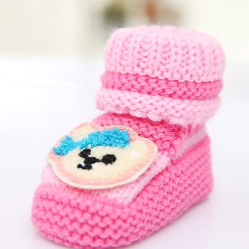 Crochet Knit Baby Infant Newborn Monkey Booties
