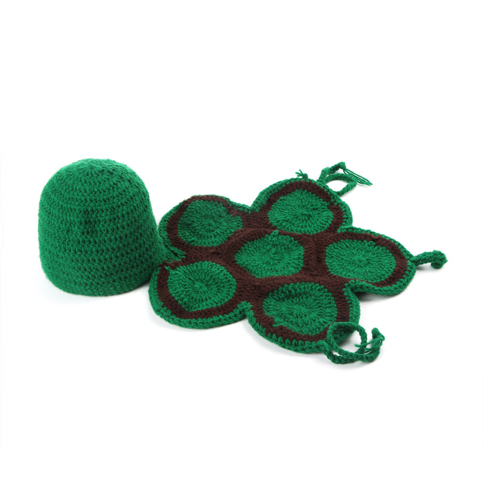 Hand-crocheted Knitting Newborn Little Turtle Photography Suit