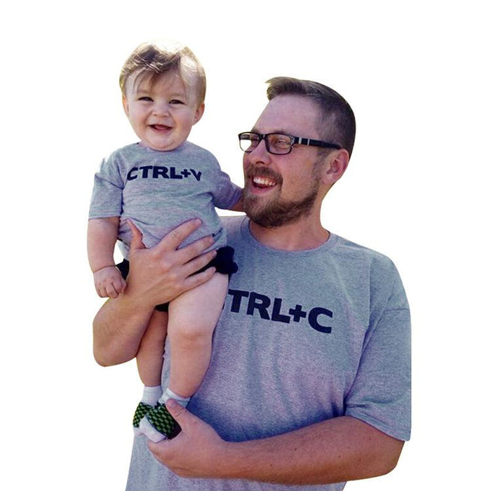 Daddy And Me T-Shirts - Pure cotton letters ctrl+C/V