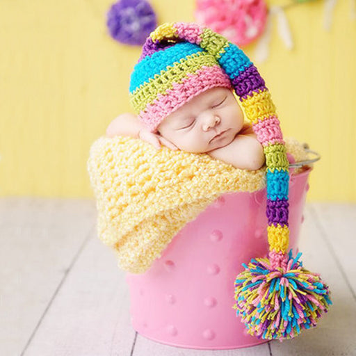 Hand-woven soft and smooth baby hat Baby Photo Props