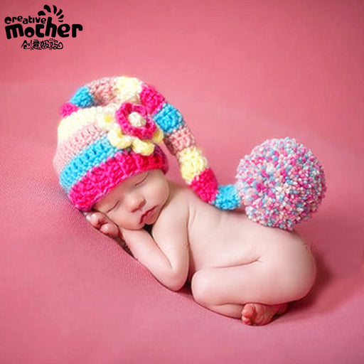Baby photography clothing, handmade knitted cartoon hat  Baby Photo Props