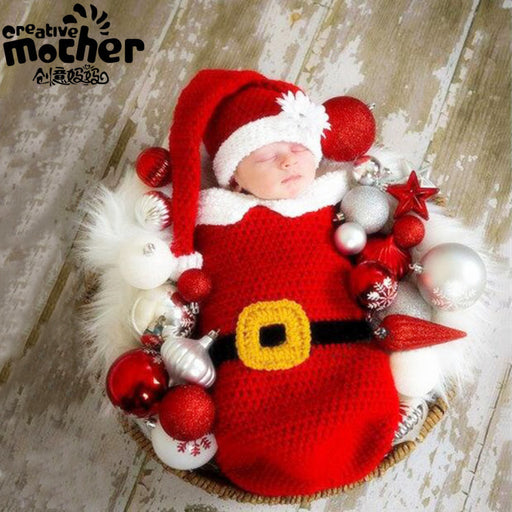 Christmas wool sleeping bag Baby Photo Props