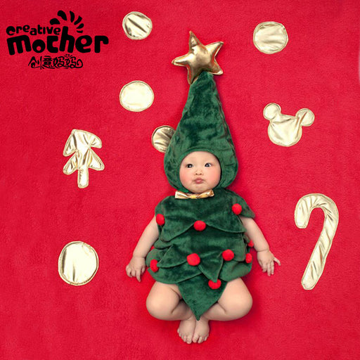 Baby photo theme costume Christmas tree clothes  Baby Photo Props
