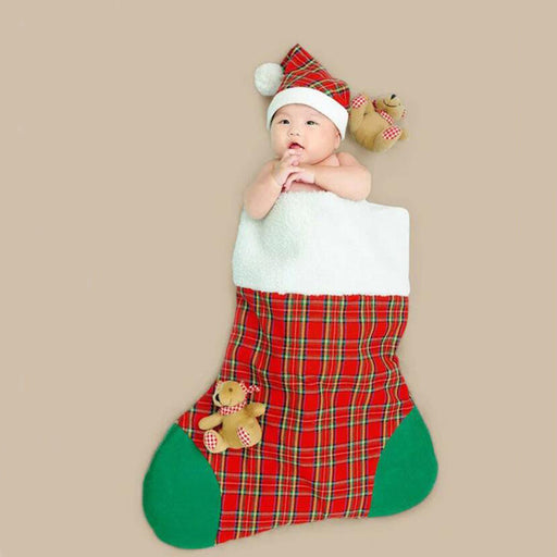 Baby  Christmas outfit  Baby Photo Props