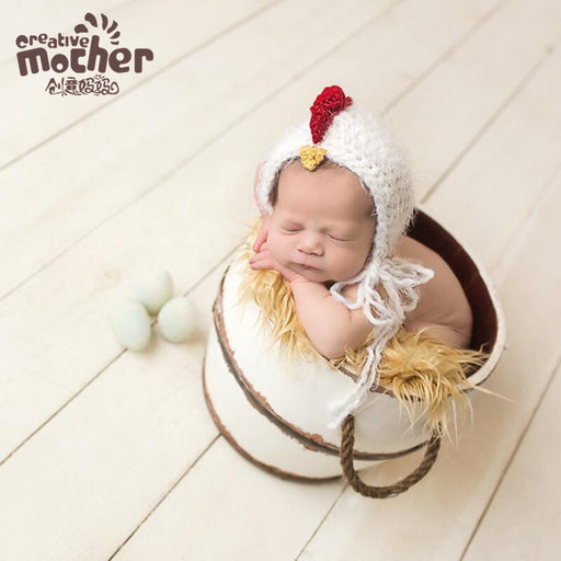 Baby hundred days photography hat, hand-woven chick hat Baby Photo Props