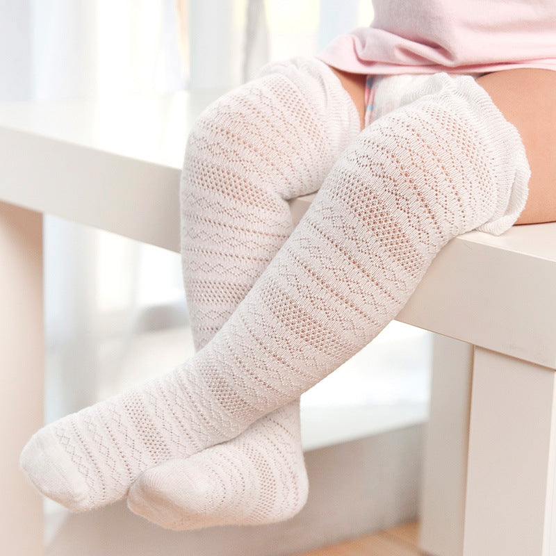 Mesh Thin Over Knee Baby Crochet Knit Stockings