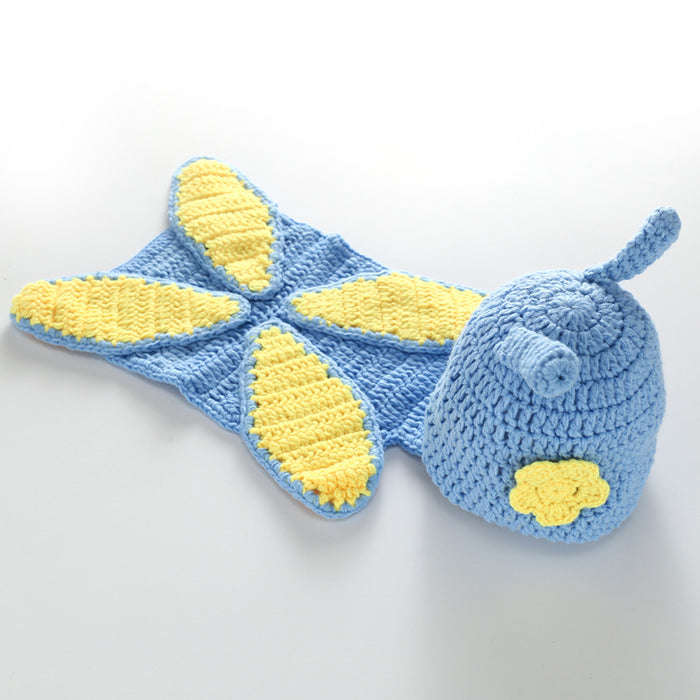 Hand-crocheted Knitting Newborn Butterfly Photography Suit