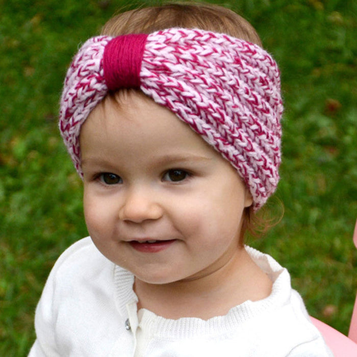 Baby Winter Two - color Woven Knitting Headband