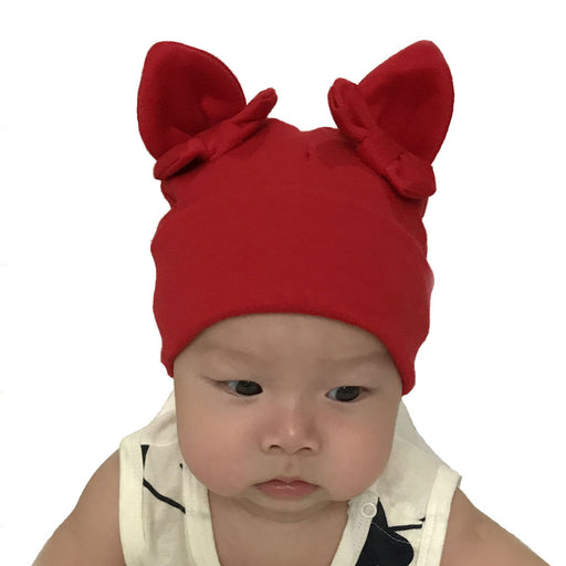 Bow Rabbit Ears Knitted Infant Warm Autumn And Winter Hat