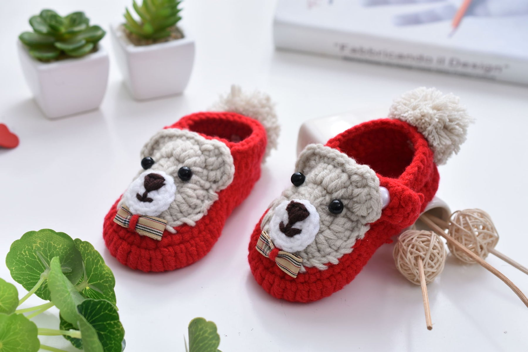 Crochet Knit Baby Infant Happy Girl Lion Handmade Moccasins - Purple