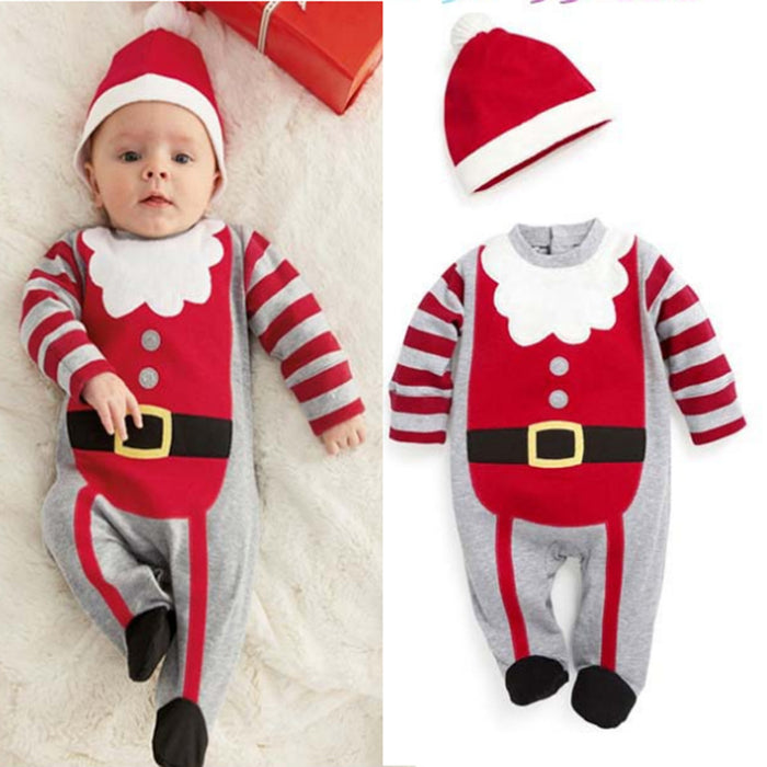 Men and women baby Santa suits long-sleeved jumpsuit romper