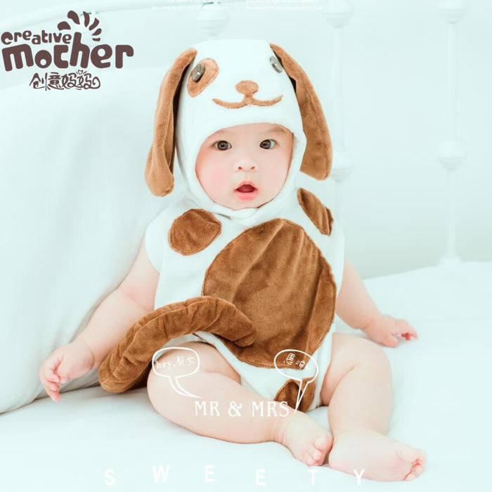 Man and woman baby cartoon dog clothes suit  Baby Photo Props
