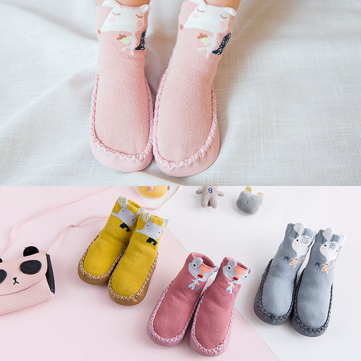 Baby Crochet Knit Cute Cartoon Non-slip Toddler Socks