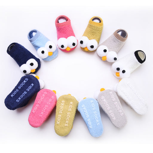 Baby Crochet Knit Cartoon Big Eyes Non-slip Toddler Socks