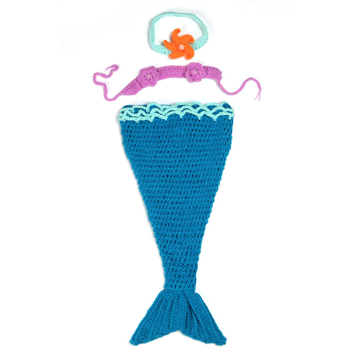Hand-crocheted Knitting Newborn Mermaid Photography Suit