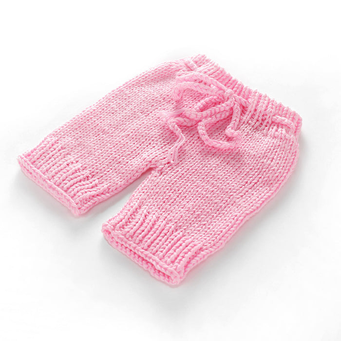 Hand-crocheted Knitting Newborn Pink Hat Shorts Photography Suit
