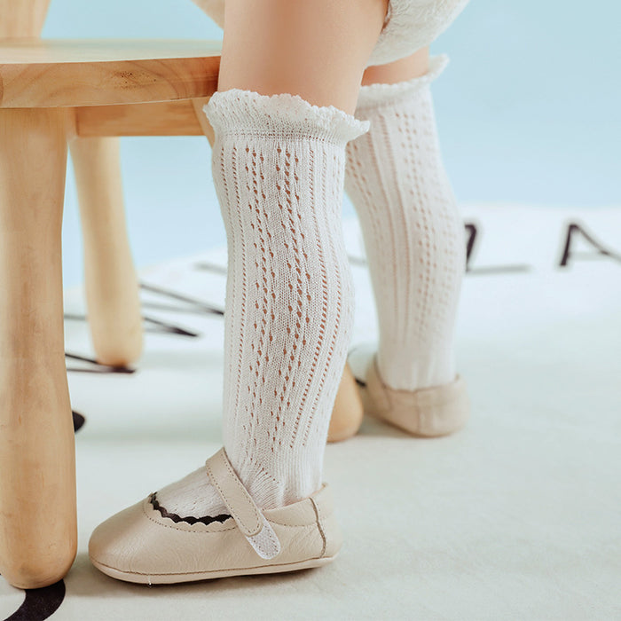 Thin Mesh Baby Knit Stockings